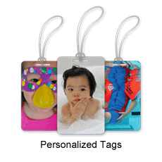 Personalized tags with your own pictures!