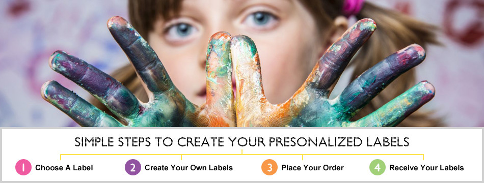 Steps to create personalized labels stickers